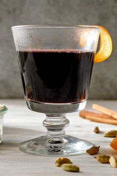 As it simmers, this traditional Swedish mulled wine will fill your home with the scent of burnt orange peel, cardamom and heady sweet wine. It is just the thing to sip on a winter's night as your toes keep warm by the fire. If you choose to serve glogg the traditional way, with raisins and almonds, you'll be rewarded at the end of your glass with plump, wine-infused raisins and tender, toothsome almonds. (Photo: Craig Lee for NYT)
