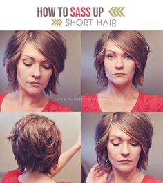 10 Fabulous Hair Tutorials For Short Hair
