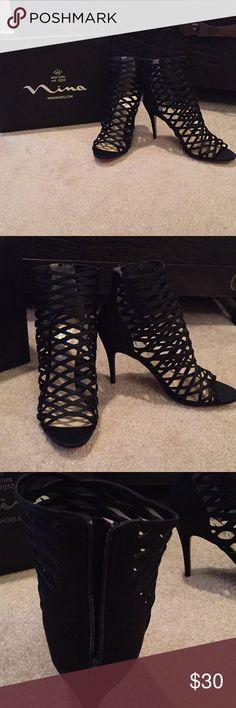 e481c7acb2b Nina black strappy heels 8.5 New Nina black strappy heels Size 8.5 Nina  Shoes Heels Black