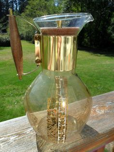 Vintage Mid Century Large Glass Coffee Carafe with by KathiJanes, $17.95
