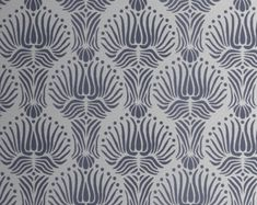 STENCIL for Walls - Art DECO Flower Pattern - Large, Reusable stencil - DIY Home Decor - similar to Farrow and Ball