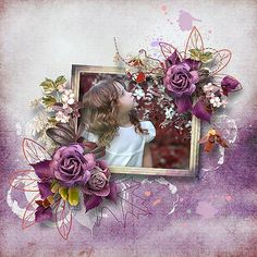 Faded Glory by Benthaicreations photo Irina Nedyalko use with permission Faded Glory, Digital Scrapbooking, Floral Wreath, Digital Art, Gallery, January, Mary, Layout, Painting