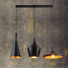 STOEX® 3PCS E27 Métal Vintage Suspensions Luminaire Lampes Retro Pendentif éclairage Industriel Antique Plafonnier Luminaire