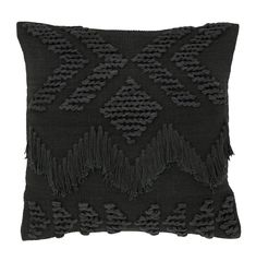 Fringe Cushion- Black