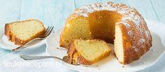 Frisse en zachte sinaasappelcake met Griekse yoghurt en zonnebloemolie