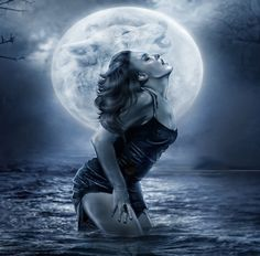Not enough female werewolves. a she-wolf was unleashed for the first time in a long time today that's for sure! Female Werewolves, Wolves And Women, Fantasy Art, Vampires And Werewolves, Howl At The Moon, Art, Dark Art, Wolf Art, Dark Fantasy Art