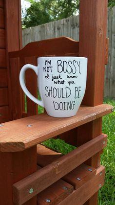 Funny Coffee Mug Cute Coffee Mug Quote by JustABrushAndPaint