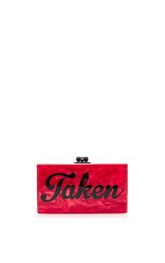 M'O Exclusive: Jean 'Taken' Acrylic Clutch by Edie Parker