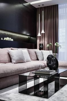 """Апартаменты ЖК """"Гранд фамилия"""": Гостиная в . Автор – ART Studio Design & Construction"""
