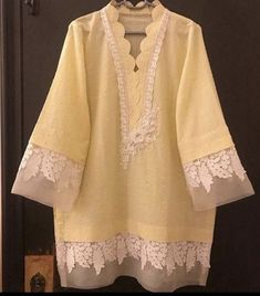 Shirt for order please Neckline Designs, Dress Neck Designs, Kurti Neck Designs, Kurta Designs Women, Kurti Designs Party Wear, Sleeve Designs, Tunic Designs, Girls Dresses Sewing, Stylish Dresses For Girls