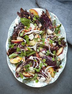 Goat's Cheese, Peach and Radicchio Salad
