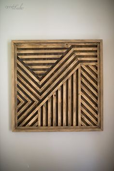Wood Wall Art Geometric Wood Art Rustic Wood Art Modern