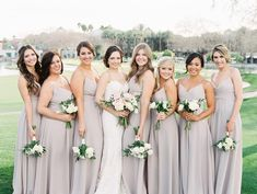 """604 Likes, 16 Comments - Rachel Solomon Photography (@rachelsolomonphoto) on Instagram: """"Loving these taupe bridesmaid gowns from Michelle & Tom's wedding! #officiallyoconnell…"""""""