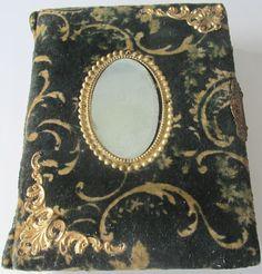 Cabinet Card Ornate Green Velvet Victorian Photo Album 20+ Photos Vintage