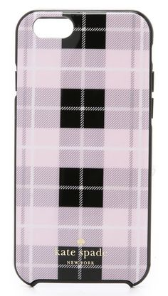 Kate Spade New York Woodland Plaid iPhone 6 / Case Phone Accesories, Tech Accessories, Pink Iphone, Iphone 6, Apple Iphone, Kate Spade Iphone, Tech Gadgets, Iphone Case Covers, Style Guides