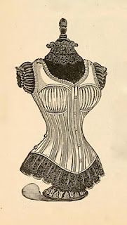vintage corset and dress form