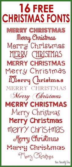 16 FREE Christmas Fonts! by MERR