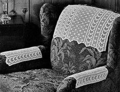 Checker Filet Chair Set Pattern #7038 - I can actually see this pattern as a small rug.