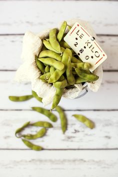 Edamame on White | Flickr - Photo Sharing!