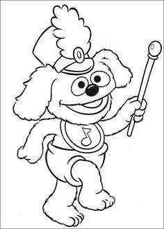 Desenhos para pintar Muppets 45