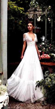 38 Romantic Boho Wedding Dresses To Inspire You - Boho wedding gown Boho Wedding Gown, Wedding Dresses, Ball Gowns, Tulle, Romantic, Inspire, Inspiration, Fashion, Bride Gowns
