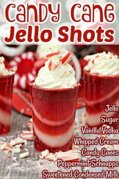 Alcoholic Drinks Recipes With Vodka, Jello Shot Recipes, Alcoholic Desserts, Alcohol Drink Recipes, Yummy Drinks, Alcoholic Shots, Fun Drinks, Christmas Jello Shots, Christmas Drinks