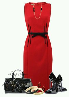 A fashion look from August 2015 featuring slimming dresses, black heeled shoes and handbag purse. Browse and shop related looks. Polyvore Outfits, Polyvore Fashion, Work Fashion, Fashion Looks, Fashion Outfits, Womens Fashion, Night Outfits, Classy Outfits, Jw Mode