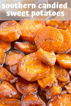 These Southern Candied Potatoes are the perfect side dish for your dinner table. Covered in a delicious brown sugar syrup and baked until tender. potato al horno asadas fritas recetas diet diet plan diet recipes recipes Southern Sweet Potato Recipe, Canned Sweet Potato Recipes, Southern Candied Yams, Candied Yams Recipe, Canning Sweet Potatoes, Easy Potato Recipes, Skillet Sweet Potatoes, Candied Yams Easy, Yam Recipes