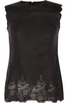 Sara Berman Doily Coco laser-cut leather top #HowToWear #Leather