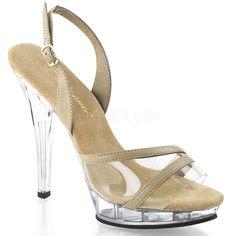 e0b52f81b64 LIP-137 Fabulicious Sexy Shoes 5 Inch Heel 3 4 Inch Platforms Sling Back  Sandals