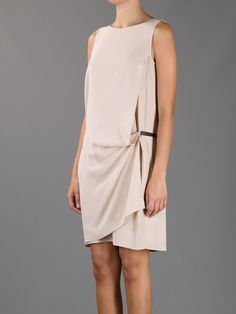Nude silk dress from BRUNELLO CUCINELLI