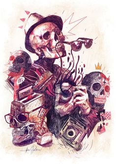 Art of the Day - Javier Gonzalez Pachecho  http://toyastales.blogspot.com/2014/10/art-of-day-javier-gonzalez-pachecho.html  #skulls