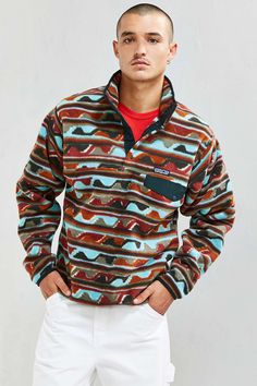 Patagonia Synchilla Fleece Snap-T Pullover Sweatshirt - Urban Outfitters
