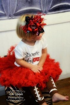 Large licensed Oklahoma Sooners  boutique hair bow by VAL106, $15.00--SO CUTE!!  (Can be done with any team name)