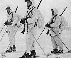 Norwegian volunteer troops fighting on the Finnish side of the Winter War, Northern Finland, Jan 1940