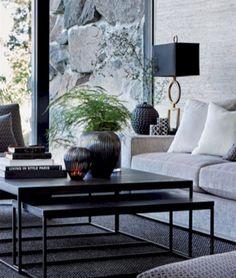 35 Trendy Home Interior Black And White Coffee Tables Decor, Interior, Black And White Interior, Luxury Homes Interior, Decor Interior Design, House Interior, White Interior Design, Interior Design, Green Interior Decor