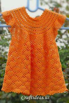 Crochet dress pattern for a little girl
