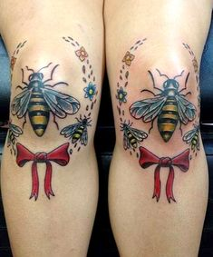 37 Holy Crap Tattoos You Have to See to Believe. The Bee's Knees: We can get behind beeswax in lip balm or a nice geometric honeycomb print, but this is taking bee appreciation (and puns) too far.