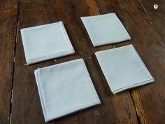 Lot de 4 mouchoirs en tissus lavable, coton vert clair http://www.alittlemarket.com/soin-bien-etre/fr_lot_de_4_mouchoirs_en_tissus_lavable_coton_vert_clair_-15460039.html