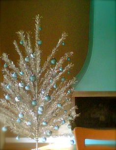 vintage aluminum Christmas Tree.