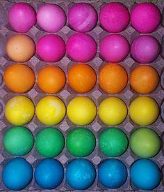 hard boiled rainbow eggs for wedding brunch?? hehe! or tie dye...