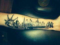tatuagem new york aquarela - Pesquisa Google
