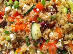 Greek Quinoa Salad  (1) From: Playing With My Food, please visit