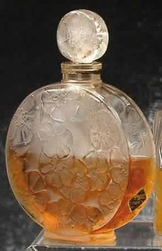*1922 R. Lalique Perfume Bottle ~Jardinee ~12,5cm for Volnay