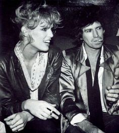 Keith Richards and Patti Hansen. Beyond.