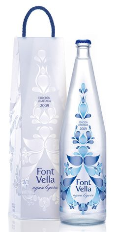 My goodness I am a sucker for beautiful package design. This Font Vella premium water bottle graphic might have made my eyes well up a little bit...