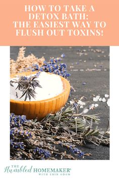 How to Take a Detox Bath_ The Easiest Way to Flush Out Toxins! Salt Detox, Plant Therapy, Detox Your Body, Alternative Medicine, Food Allergies, Health And Wellness, Take That, Yoga, Bath