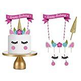 Unicorn Cake Decorations - The Unicorn Store Unicorn Cake Decorations, Birthday Party Decorations, Happy Birthday Cake Topper, Happy Birthday Candles, Cupcake Flags, Cupcake Toppers, Healthy Birthday, Unicorn And Glitter, Unicorn Cake Topper