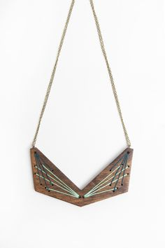geo | embroidered statement necklace