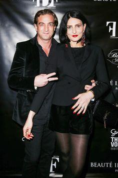 Sylvie Ortega Munos et Ludovic Chancel à l'hôtel particulier Christian Dior à Paris en février 2017